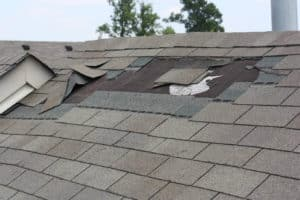 damage roof